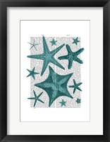 Green Starfish Collection Framed Print