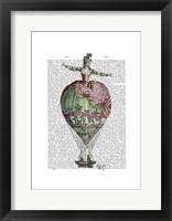 Hot Air Balloon Woman 2 Framed Print