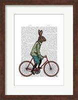 Framed Rabbit On Bike