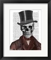 Framed Skeleton Gentleman and Top hat