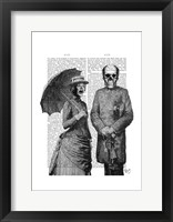 Screaming Woman and Skull Framed Print