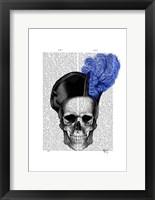 Framed Skull with Blue Hat