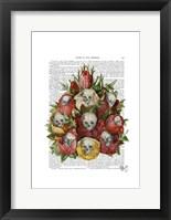Framed Bouquet of Skulls