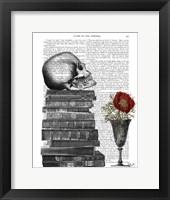Framed Skull And Books