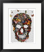 Framed Butterfly Skull