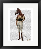Framed Polo Horse Full