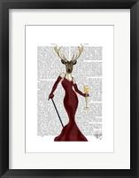 Glamour Deer in Marsala Framed Print