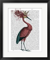 Framed Crowed Marsala Heron