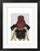 Snug Pug Framed Print