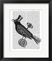 Framed Steampunk Crow