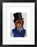 Framed Orangutan in Top Hat
