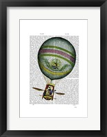 Light Blue Hot Air Balloon Framed Print