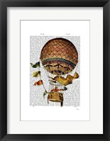 Framed Hot Air Balloon with Flags