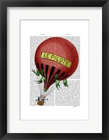 Le Pilote Hot Air Balloon Framed Print