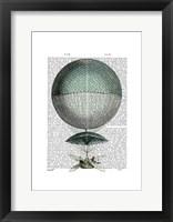 Framed Vaisseau Volant Hot Air Balloon