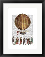 Framed Hot Air Balloon And People
