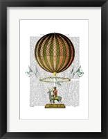 Framed Hot Air Balloon Zephire