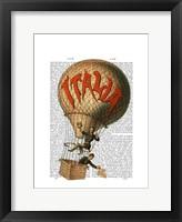 Framed Italia Hot Air Balloon