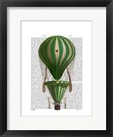 Tiered Hot Air Balloon Green Framed Print