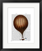 Framed Royal Nassau Balloon Hot Air Balloon