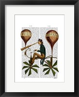 Framed Voyage A La Lune Hot Air Balloon
