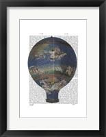Framed Machine Aerostatique Hot Air Balloon