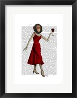 Chimp With Wine Framed Print