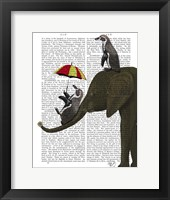 Framed Elephant and Penguin