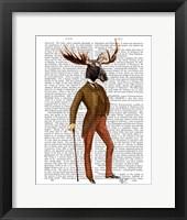 Moose In Suit Full Framed Print