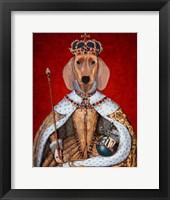 Dachshund Queen Framed Print