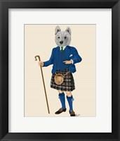 Framed West Highland Terrier in Kilt