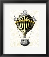 Baroque Balloon Black Yellow Framed Print