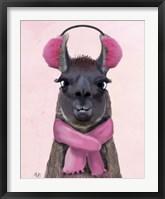 Framed Chilly Llama Pink