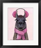 Framed Chilly Llama Pink
