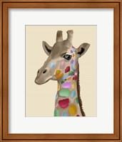 Framed MultiColoured Giraffe