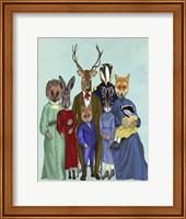 Framed Woodland Family