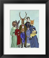 Framed Woodland Family