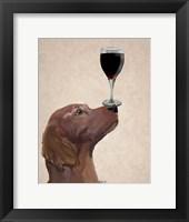 Framed Red Setter Dog Au Vin