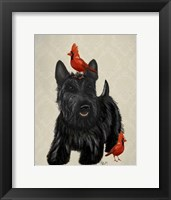 Framed Scottie Dog and Red Birds