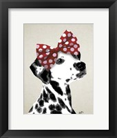 Framed Dalmatian With Red Bow