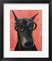 Framed Doberman With Glasses