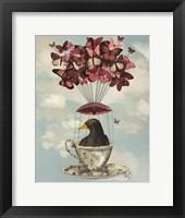 Framed Blackbird In Teacup