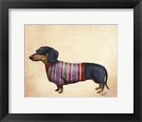 Framed Dachshund With Woolly Sweater