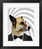 Framed Debonair James Bond Dog