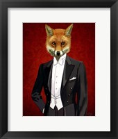 Framed Fox In Evening Suit Portrait
