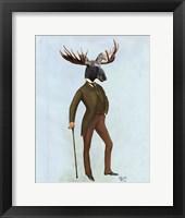 Framed Moose In Suit Full