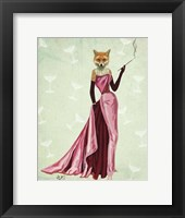 Glamour Fox in Pink Framed Print