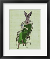 Lady Bella Rabbit Taking Tea Framed Print