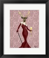 Framed Glamour Deer in Marsala