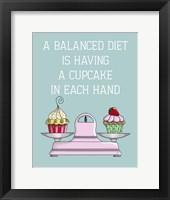 Framed Balanced Diet